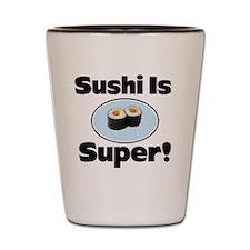 Sushi button Shot Glass