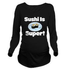 Sushi 2 Long Sleeve Maternity T-Shirt