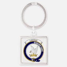 Lindsay Clan Badge Square Keychain