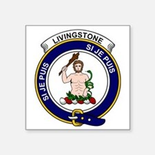 "Livingstone Clan Badge Square Sticker 3"" x 3"""