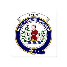 """Lyon Clan Badge Square Sticker 3"""" x 3"""""""