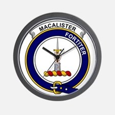 MacAlister Clan Badge Wall Clock