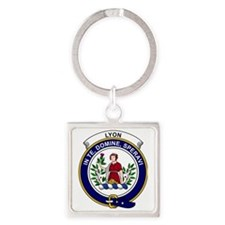 Lyon Clan Badge Square Keychain