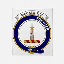 MacAlister Clan Badge Throw Blanket