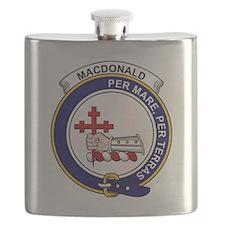 MacDonald (of Sleat) Clan Badge Flask