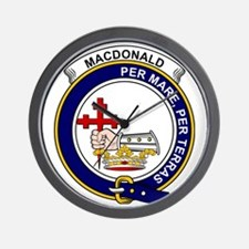 MacDonald (Clan Donald) Clan Badge Wall Clock