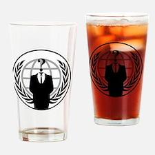 1anonymouslogo Drinking Glass