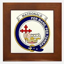 MacDonald (Clan Donald) Clan Badge Framed Tile