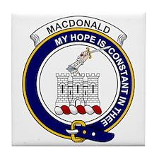 MacDonald (Clan Ranald) Clan Badge Tile Coaster