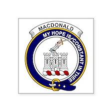 "MacDonald (Clan Ranald) Cla Square Sticker 3"" x 3"""