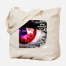 twilight eye with wolf and cut out text b Tote Bag