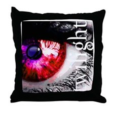 twilight eye with wolf and cut out te Throw Pillow