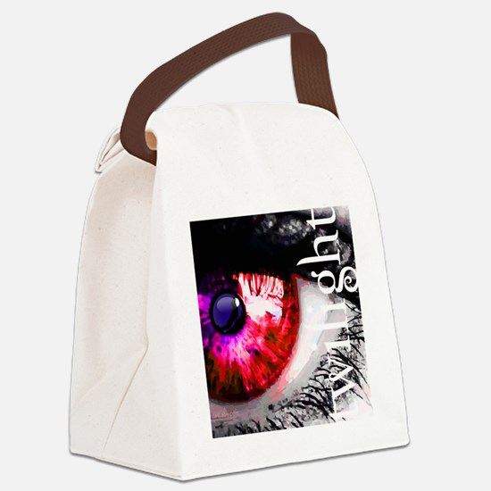 twilight eye with wolf and cut ou Canvas Lunch Bag