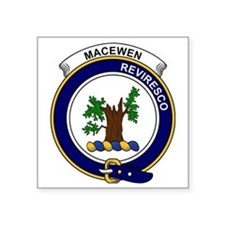 "MacEwen Clan Badge Square Sticker 3"" x 3"""