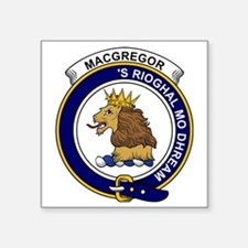 "MacGregor Clan Badge Square Sticker 3"" x 3"""