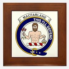 MacFarlane Clan Badge Framed Tile
