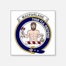 """MacFarlane Clan Badge Square Sticker 3"""" x 3"""""""