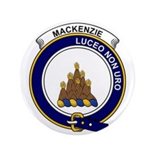 "MacKenzie Clan Badge 3.5"" Button"
