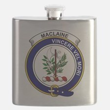 MacLaine (of Lochbuie) Clan Badge Flask