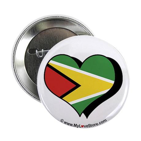 """I Love Guyana 2.25"""" Button (100 pack)"""