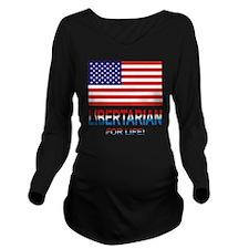 Libertarianlife Long Sleeve Maternity T-Shirt
