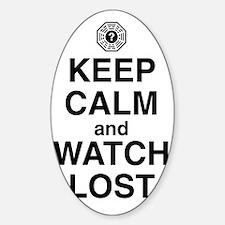 keep-calm-watch-lost-light Sticker (Oval)