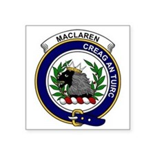 "MacLaren Clan Badge Square Sticker 3"" x 3"""