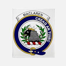 MacLaren Clan Badge Throw Blanket