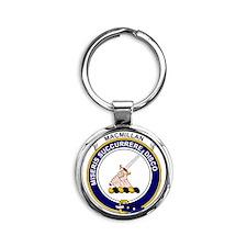MacMillan Clan Badge Round Keychain