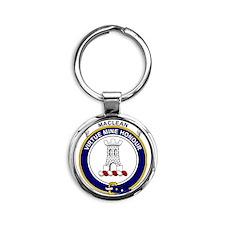 MacLean Clan Badge Round Keychain