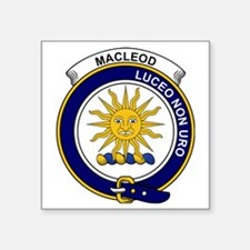 """MacLeod (of Lewis) Clan Bad Square Sticker 3"""" x 3"""""""