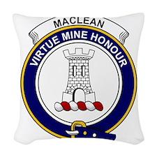 MacLean Clan Badge Woven Throw Pillow