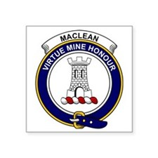"MacLean Clan Badge Square Sticker 3"" x 3"""
