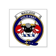 "MacLeod Clan Badge Square Sticker 3"" x 3"""