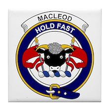MacLeod Clan Badge Tile Coaster