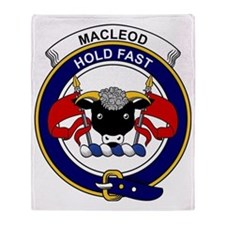 MacLeod Clan Badge Throw Blanket