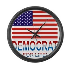 Democratlife Large Wall Clock