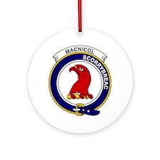 MacNicol (of Scorrybreac) Clan Badg Round Ornament