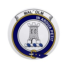 Malcolm (or MacCallum) Clan Badge Round Ornament