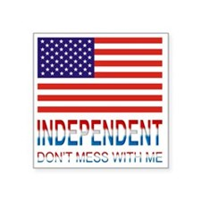 """Independentmess Square Sticker 3"""" x 3"""""""