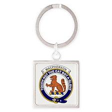 MacPherson Clan Badge Square Keychain
