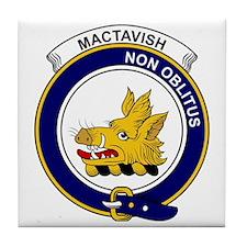 MacTavish Clan Badge Tile Coaster