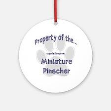 Min Pin Property Ornament (Round)