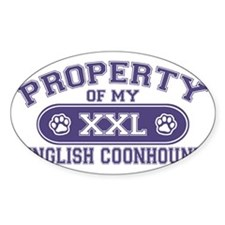 englishcoonhoundproperty Decal