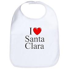 """""""I Love Santa Clara"""" Bib"""