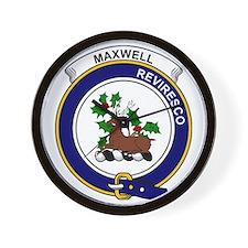 Maxwell Clan Badge Wall Clock