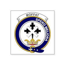 """Moffat Clan Badge Square Sticker 3"""" x 3"""""""