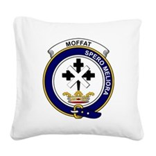 Moffat Clan Badge Square Canvas Pillow