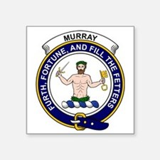"Murray (of Athole) Clan Bad Square Sticker 3"" x 3"""