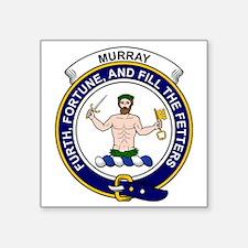 "Murray (of Athole) Clan Bad Square Sticker 3"" x 3"""